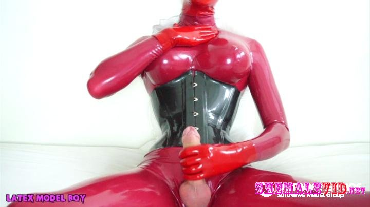 Latex Model Boy-Manyvids-Red Rubberdoll