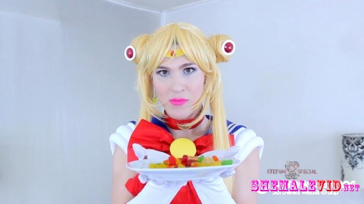 sissy porn Stefani Special-Manyvids-Sailor moon swallows her enemies
