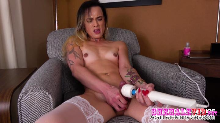 April Lee-Manyvids-Hotel room solo part 2 magic wand cum