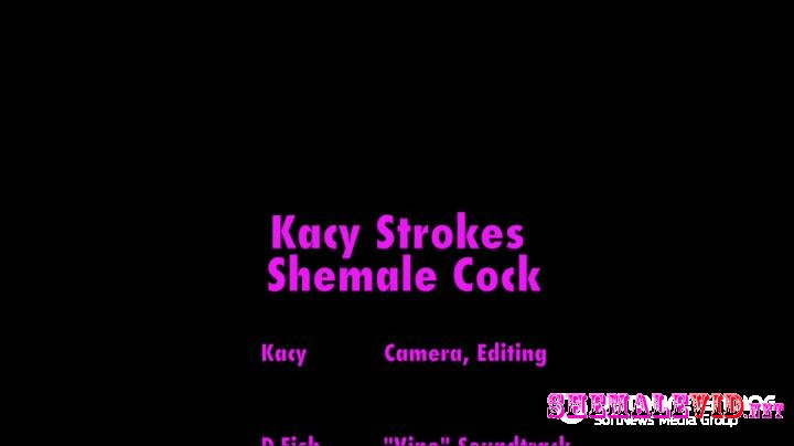 Kacytgirl-Manyvids-Tgirl strokes shemale cock cums pov vid