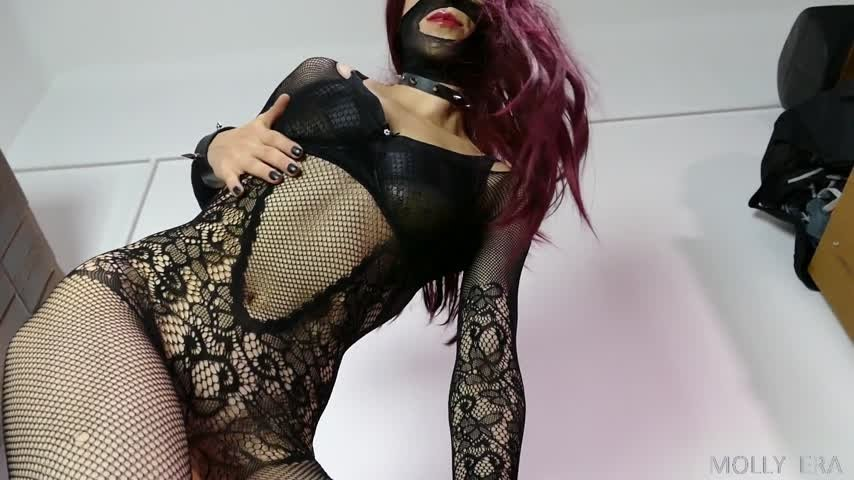 Molly Era-Manyvids-Edge for your Goth Mistress-Bodystockings, JOI, Ruined Orgasms