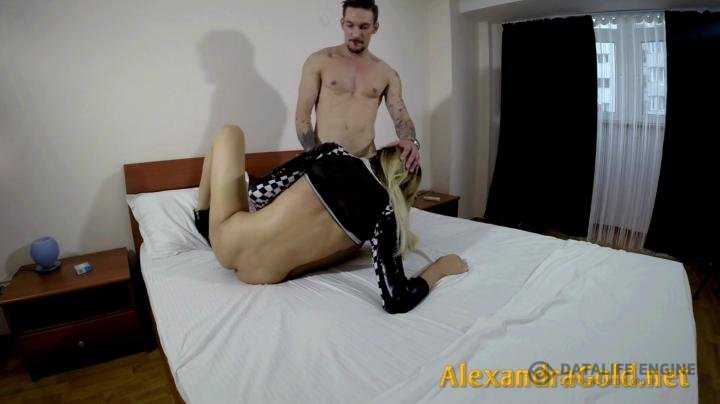 AlexandraGold-Clips4sale-Alexandra takes it deep in her ass