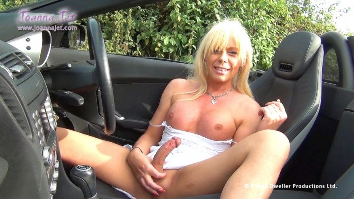 Joanna Jet-Manyvids-Tranny Jerks and Cums at Side of Road-Cumshots, Jerking Off, Public Outdoor