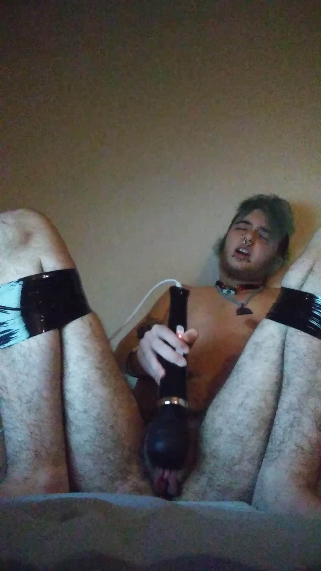 erosdrake-Manyvids-Bound FtM Cums Over and Over from Wand-Trans Male, Bondage, Hitachi