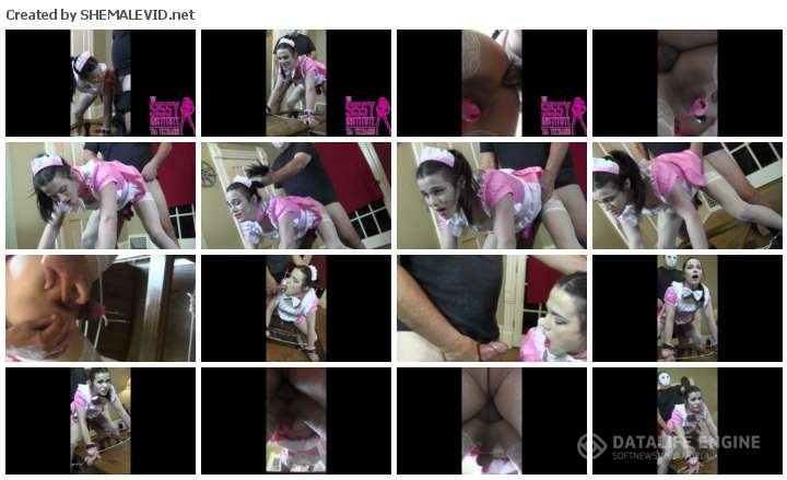 xxxtrans videos Tia Tizzianni-manyvids-Sissy nyxi pink french maid fucked doggy