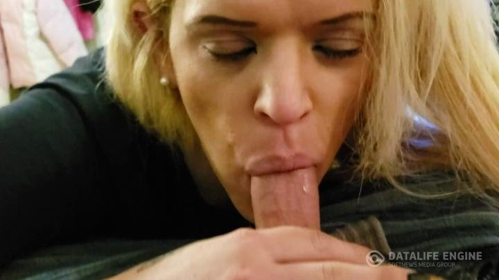 Arianna Jade-Blonde trans girl giving straight guy hot bj and swallowing the cum